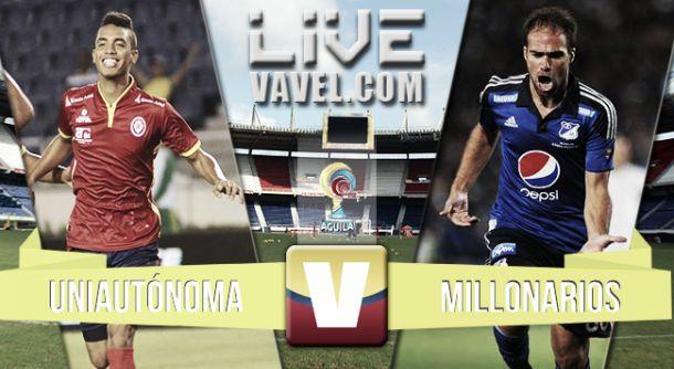 Resultado Uniautónoma - Millonarios (2-1)