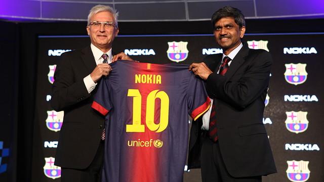 El Barça y Nokia India signan un acuerdo de colaboración