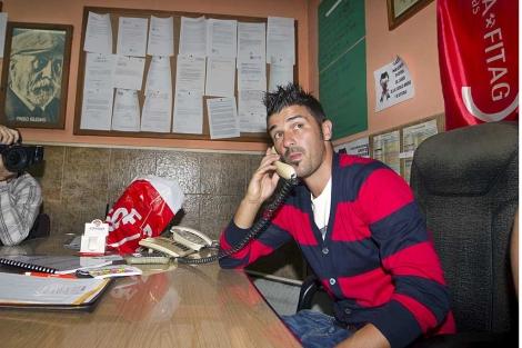 David Villa apoyó a los mineros en Asturias y estuvo presente en el cierre de su Campus de Verano