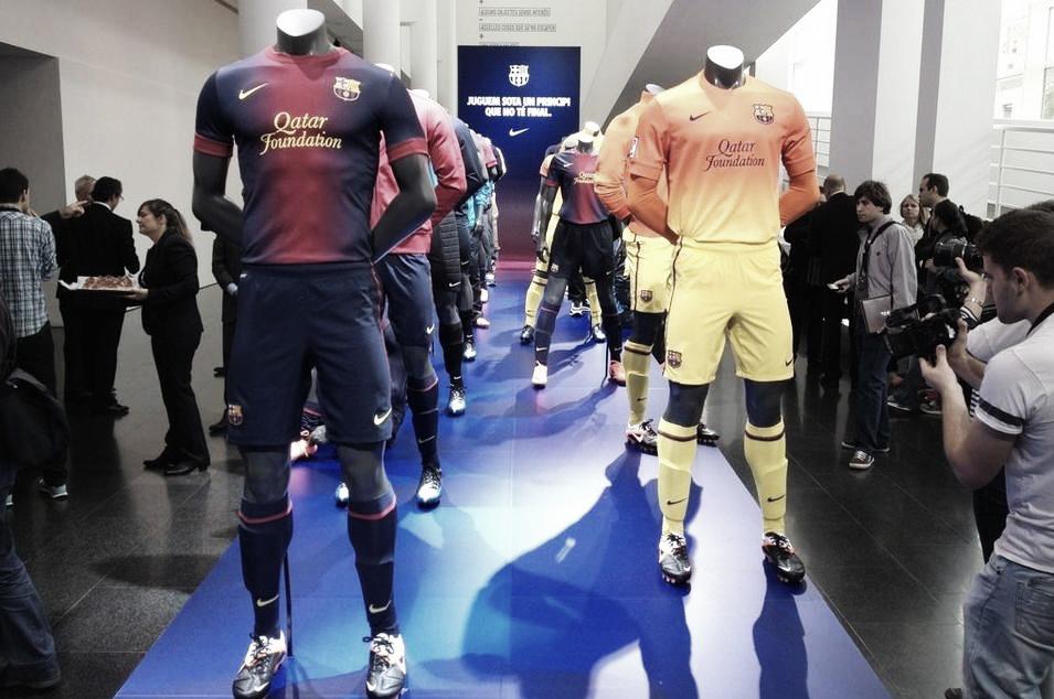 Presentadas las nuevas equipaciones del FC Barcelona para la temporada 2012/13