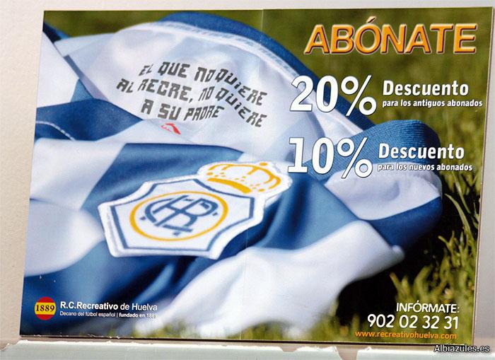 Lista la campaña de abonos del Recreativo para la temporada 2012/13