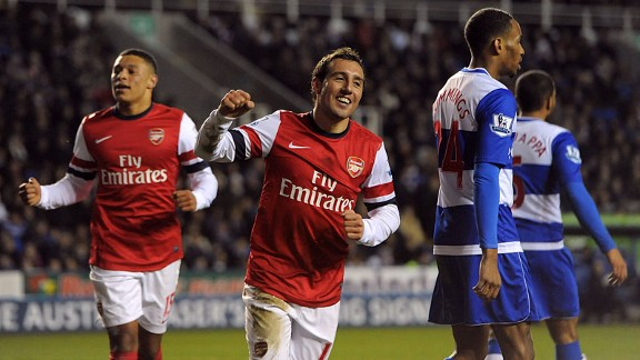 El Arsenal se desahoga en Reading