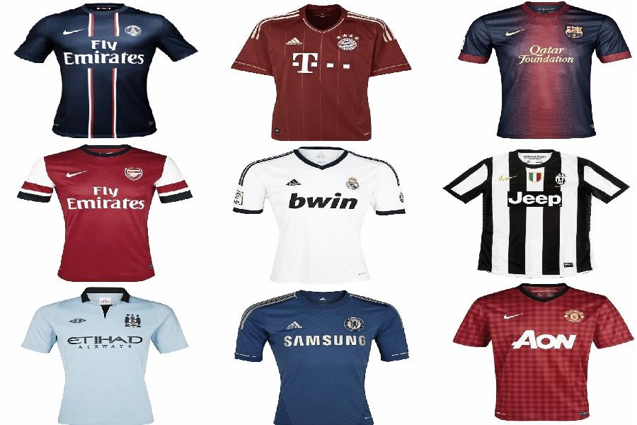 Las camisetas de la Champions 2012/2013