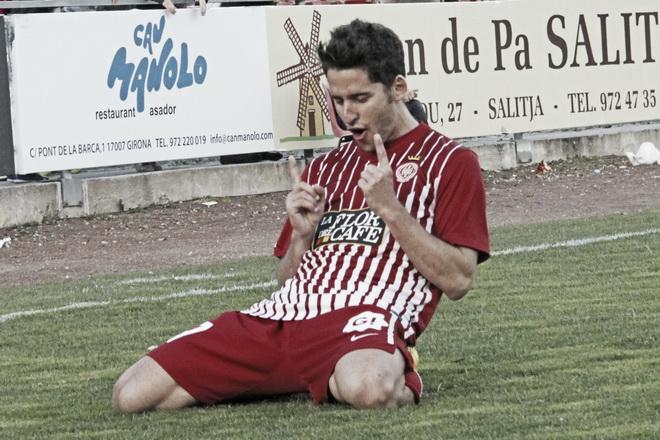 El Girona sueña con la permanencia con tres goles de Corominas (Todos los goles de la Liga Adelante)