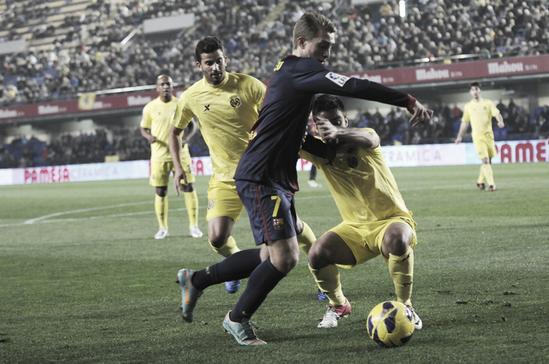 Resultado Barcelona B vs Villarreal en la Liga Adelante 2013 (0-3)