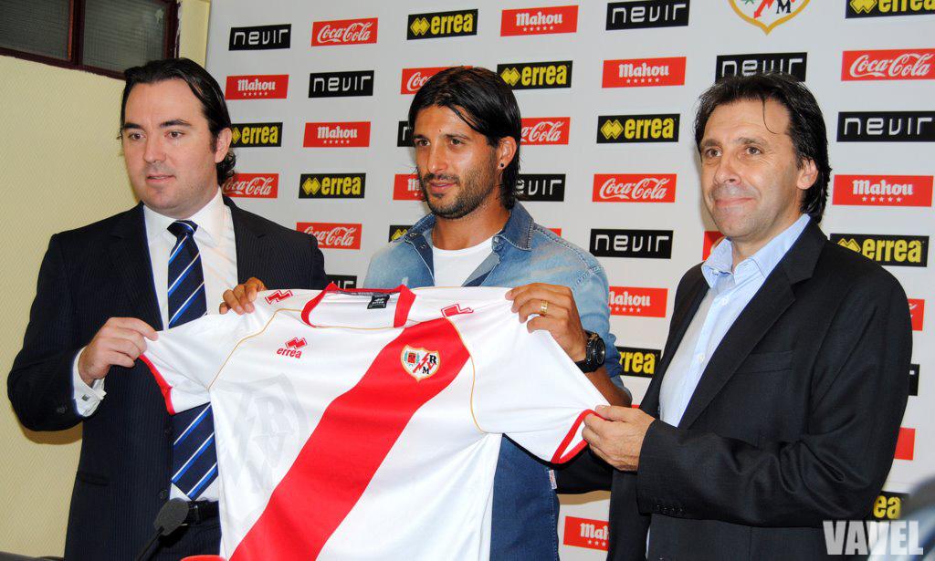 'Chori' Domínguez, presentado como nuevo jugador del Rayo Vallecano