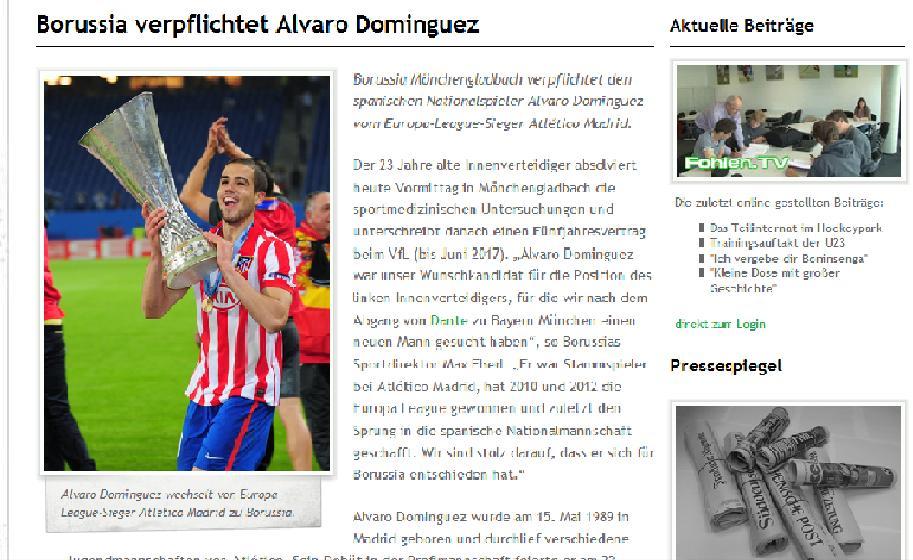 El 'Gladbach hace oficial el traspaso de Domínguez