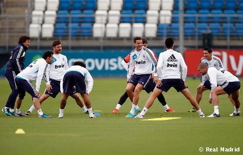 El Real Madrid se entrena con la vista puesta en el Ajax