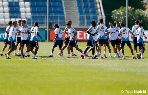 El Real Madrid se entrena con hasta 18 ausencias
