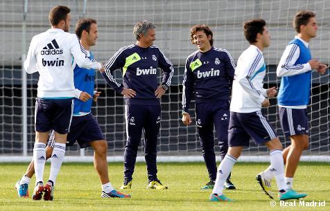 El Real Madrid se entrena con el filial