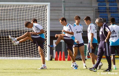 El Real Madrid concluye el segundo entrenamiento de la semana