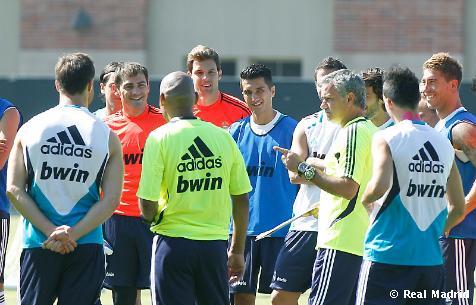 El Real Madrid inicia sus entrenamientos en UCLA