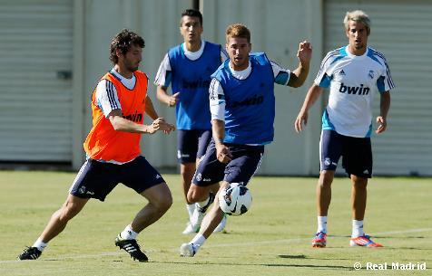 El balón como protagonista en el segundo entrenamiento