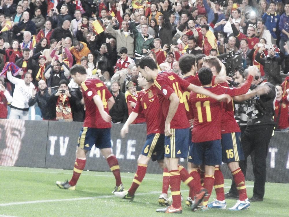 Las mejores imágenes del España - Francia