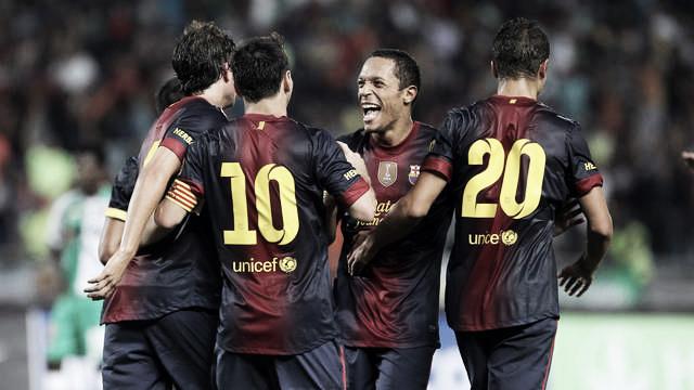 Messi se estrena con tres goles ante el Raja Casablanca