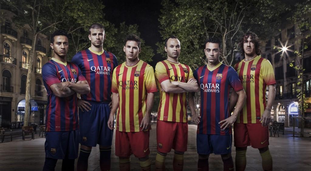 Com novo patrocinador, Barcelona apresenta seus uniformes