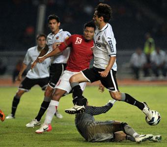 El Valencia disfruta de una noche plácida en Indonesia