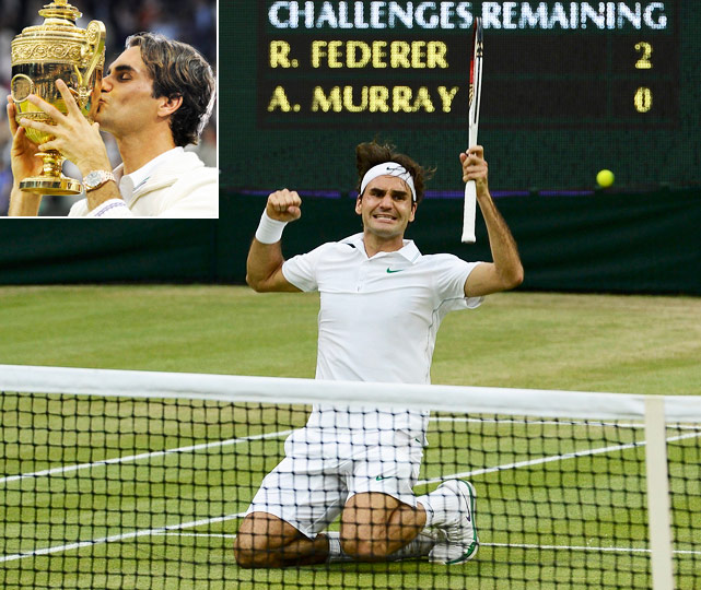 Vintage Federer keeps Britain waiting