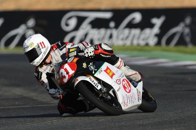 Matteo Ferrari se impone a Guevara y gana el Campeonato de Europa de Moto3