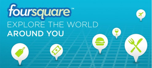 Foursquare, check-in here