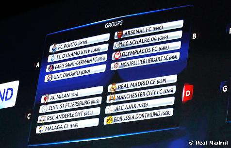 Manchester City, Borussia Dortmund y Ajax, primeros rivales del Madrid en Champions