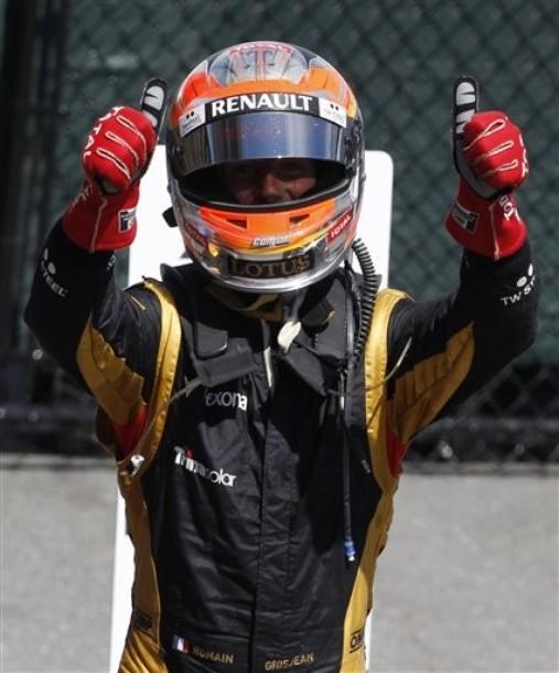 """Grosjean: """"Es fantástico haber hecho este podio"""""""