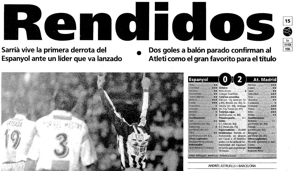 Espanyol - Atlético de Madrid: un duelo con mucha historia