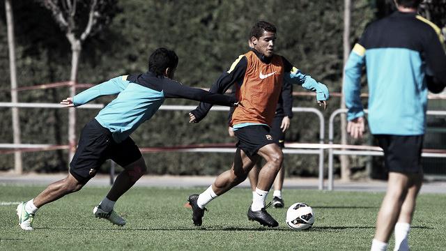 Entrenamiento matinal con Dos Santos como único jugador del primer equipo