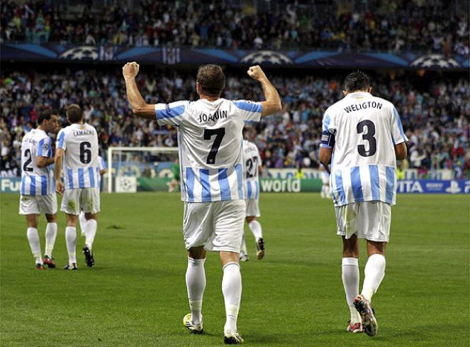 Málaga C.F - A.C Milan: puntuaciones del Málaga CF, jornada 3 fase de grupos Champions