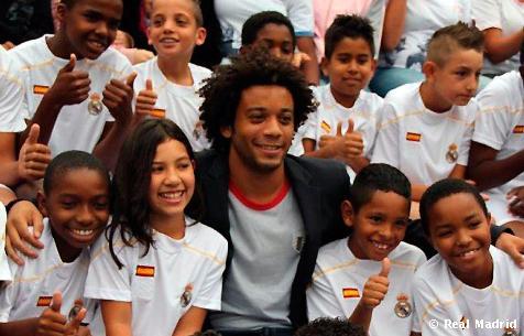 """Marcelo: """"Es un honor representar a la fundación Real Madrid en mi país"""""""
