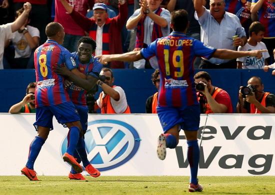 Levante - Valencia: puntuaciones Levante, jornada 7