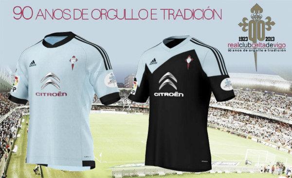 El Celta presenta las camisetas oficiales para la temporada 2013/2014