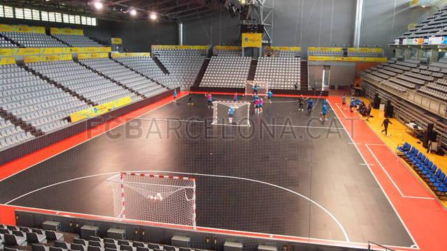 El FC Barcelona Alusport ya ha entrenado en el Barris Nord