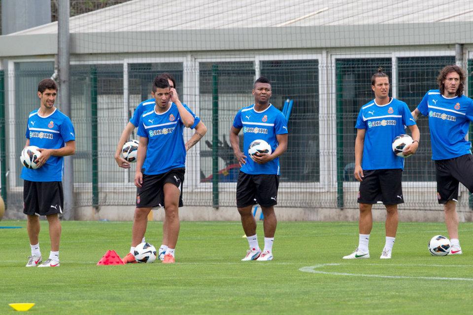 Primer entrenamiento del Espanyol en Peralada