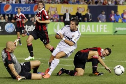 Brutta sconfitta per il Milan: 5 a 1 contro il Real Madrid