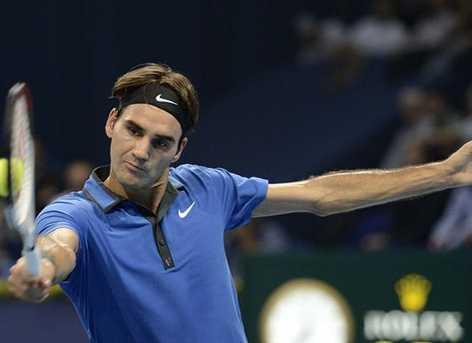 Exhibición de Federer