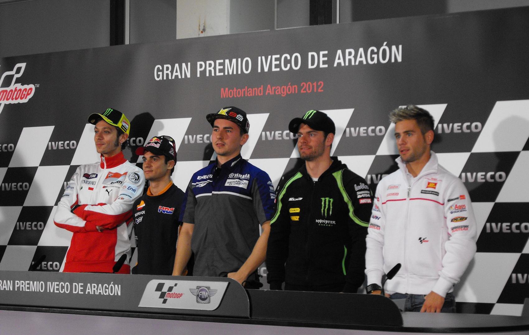 La rueda de prensa oficial pone en marcha el GP de Aragón