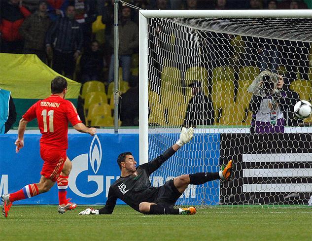 Portugal se estrella contra la Rusia de Capello