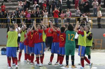 La selección de fútbol sala femenino también goza de buena salud
