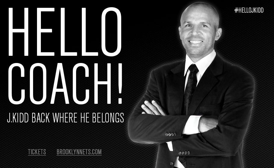 Jason Kidd é o novo técnico do Brooklyn Nets