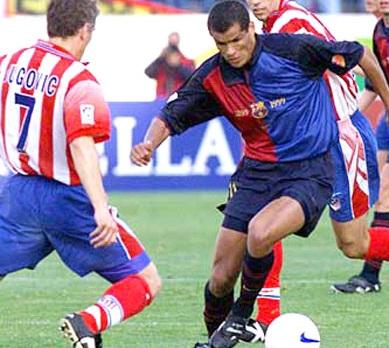 Serial Atlético de Madrid - Barcelona en Liga 97/98: Antic se despide del Calderón por la puerta grande