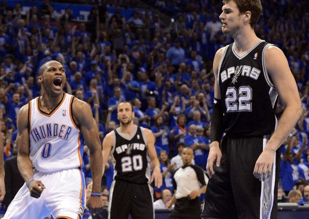 San Antonio Spurs - Oklahoma City Thunder: los roles no definitorios