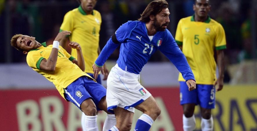 Itália domina, mas amistoso contra Brasil acaba empatado