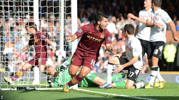 Edin Dzeko da la victoria al Manchester City ante el Fulham