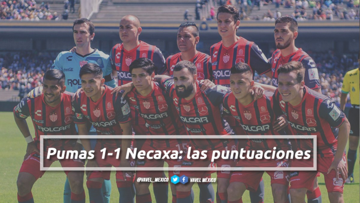 Pumas 1-1 Necaxa: puntuaciones de Necaxa en la jornada 13 de la Liga MX Clausura 2018