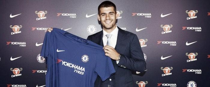 """Confiante, Morata é apresentado no Chelsea: """"Farei o máximo de gols que conseguir"""""""