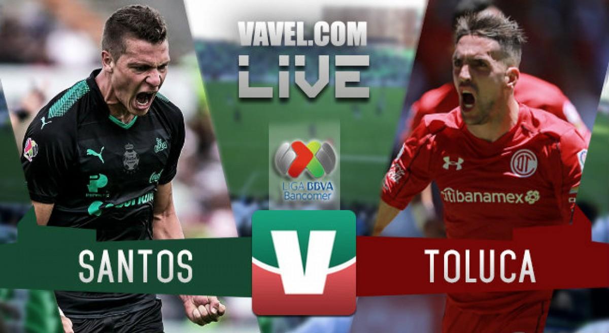 Partido y goles del Santos vs Toluca en Final de Ida de la Liga MX 2018 (2-1)