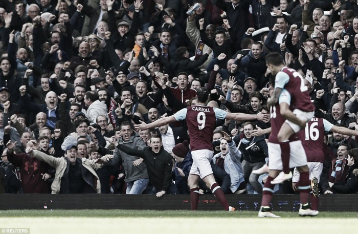 West Ham United 3-3 Arsenal: Carroll treble not enough for three points against Gunners