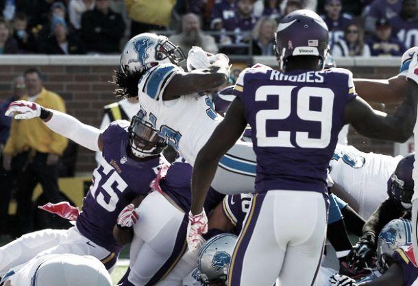 Detroit superó fácilmente a Vikings y consolida su campaña con una gran defensiva