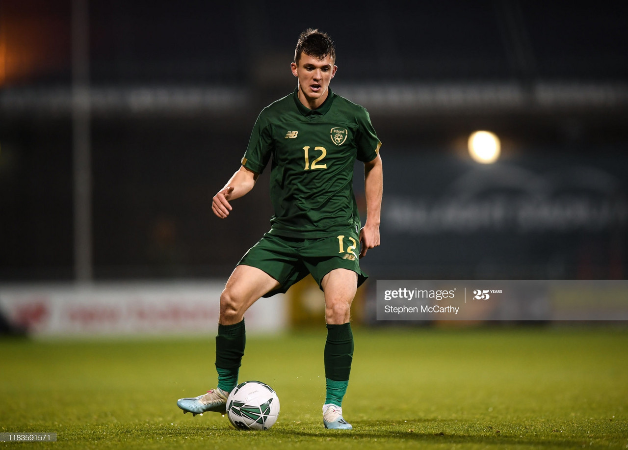 Dublin , Ireland - 19 November 2019; Jason Knight of Republic of Ireland during the UEFA European U21 Championship Qualifier match between Republic of Ireland and Sweden at Tallaght Stadium in Tallaght, Dublin. (Photo By Stephen McCarthy/Sportsfile via Getty Images)